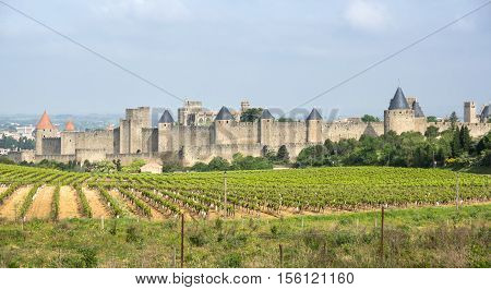 Medieval castle of Carcassonne Languedoc - Roussillon France