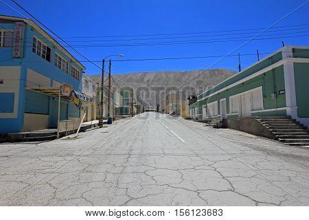 Ghost town of Chuquicamata, Chile near the copper mine