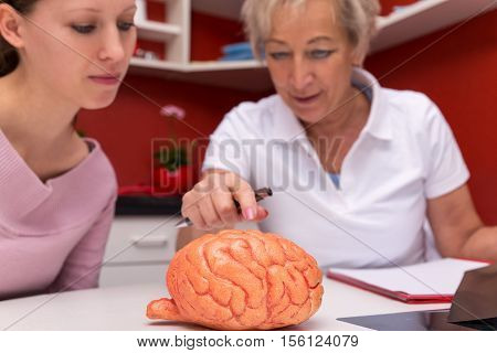 Female Doctor And Student