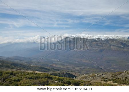 Cloudly And Mist Mountain At Gredos