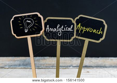 Concept Message Analytical Approach And Light Bulb As Symbol For Idea