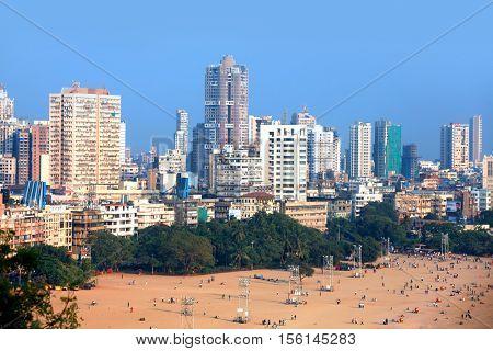 MUMBAI, INDIA - DECEMBER 6, 2015: Juhu beach in Mumbai is home to many Bollywood celebrities referred as