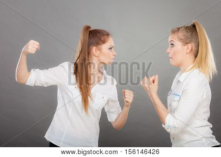 Angry Fury Girls Punching And Fighting