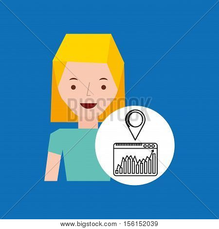character hand draw pin web icon vector illustration eps 10