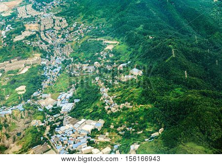 The establishment of industrial zones in the mountains of Sichuan China