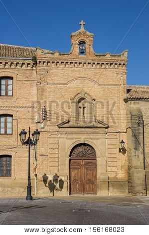 Entrance Of The Main Building Of The Huesca University