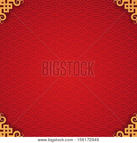 abstract chinese new year background vector design with vintage frame.