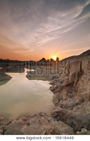 Kaolin lake sunrise