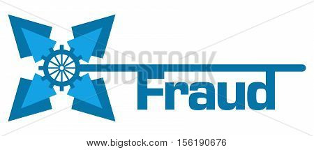 Fraud text written over abstract blue background with gears.