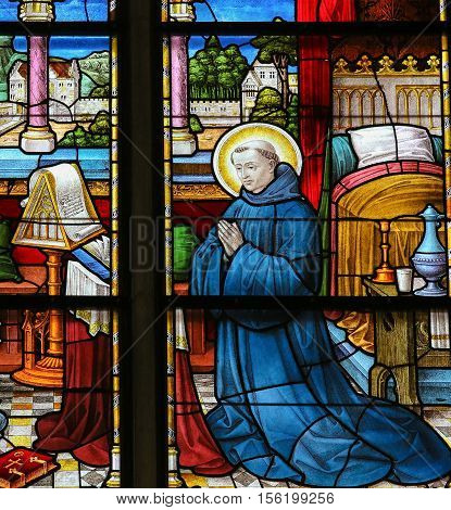 Saint Dominic - Stained Glass