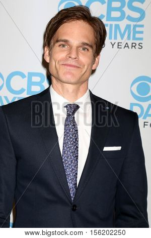 LOS ANGELES - NOV 10:  Greg Rikaart at the Young & Restless Celebrate CBS 30 Years at #1 at Paley Center For Media on November 10, 2016 in Beverly Hills, CA