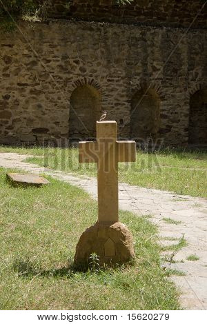 Cross In David Gareja Monastery Complex.