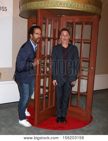 LOS ANGELES - NOV 10:  Kristoff St John, Christian LeBlanc at the Young & Restless Celebrate CBS 30 Years at #1 at Paley Center For Media on November 10, 2016 in Beverly Hills, CA