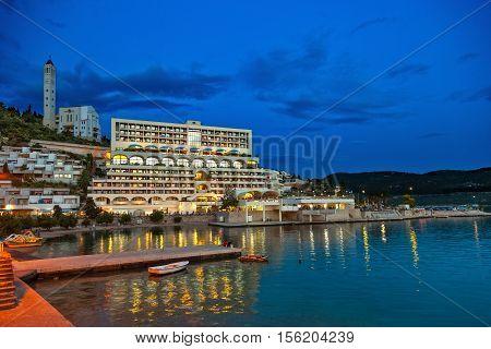 The tourist resort of Neum Bosnia and Herzegovina.