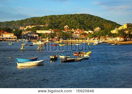 Boats over the sea in BuziosRio de janeiro Brazil