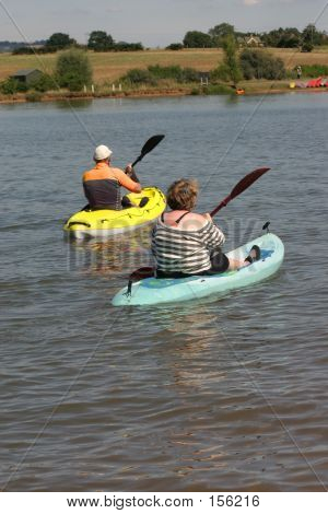 Mature Canoe Couple