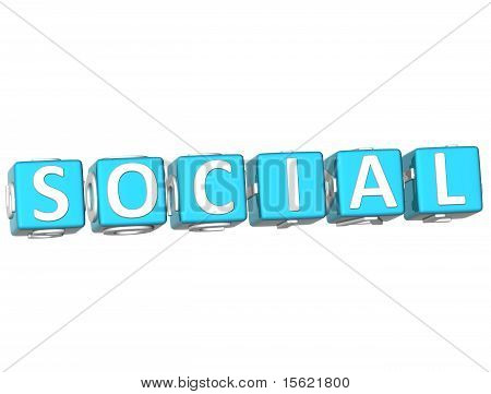 Social Cube Text