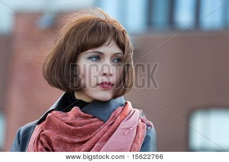 Beautiful Woman On A Street