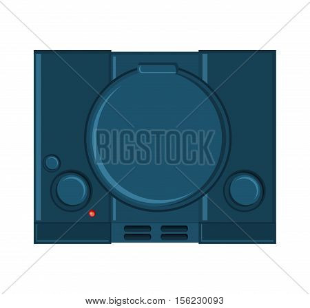 Videogame console icon. Game play leisure gaming and controller theme. Isolated design. Vector illustration
