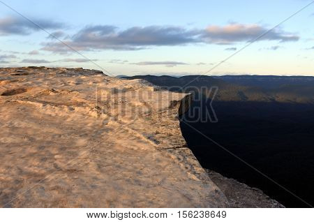 Landscape Of Lincoln Rock Lookout With Grose Valley At Sunrise  Blue Mountains New South Wales Austr