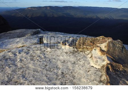 Landscape Of The Grose Valley From Lincoln Rock Lookout At Sunrise Blue Mountains New South Wales Au