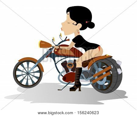 Biker babe. Biker, motorcycle, boot, women, seductive women