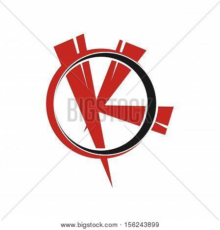 K letter initial logo design, K letter logo