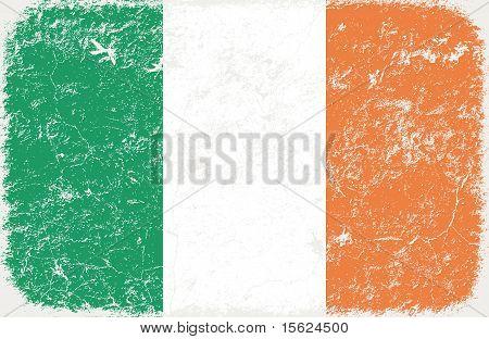 vector grunge styled flag of ireland
