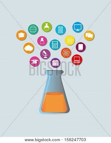 Elearning online education icon vector illustration graphic design