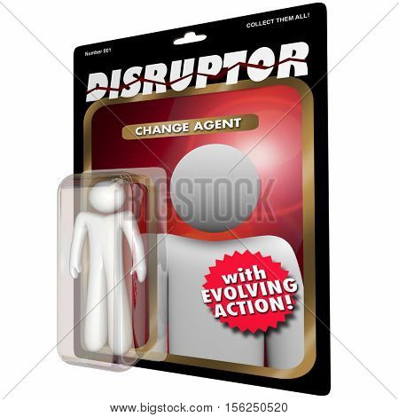 Disruptor Change Agent Action Figure Disruption 3d Illustration