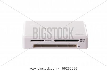 USB card reader isolated on white background