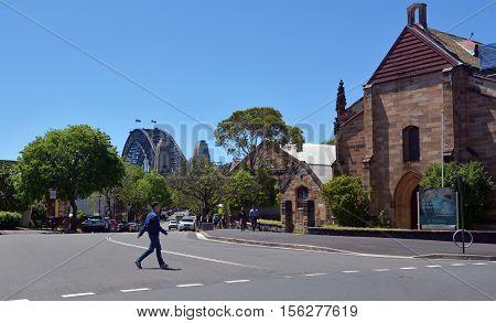 Garrison Church At The Rocks In Sydney, Australia
