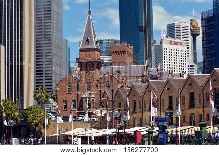 Urban Landscape View Of The Rocks In Sydney Australia