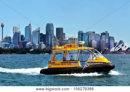 Sydney Harbour Water Taxis Sydney Australia New South Wales Nsw