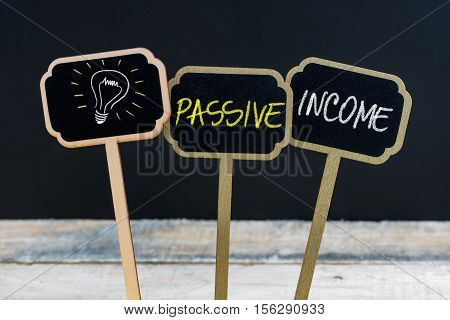 Concept Message Passive Income And Light Bulb As Symbol For Idea