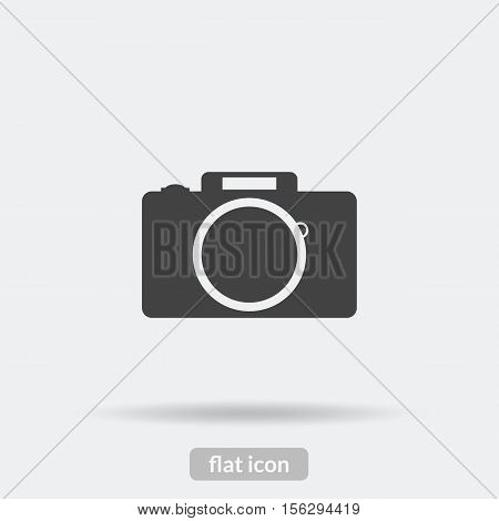 Camera Icon, Black Vector Is Type Eps10