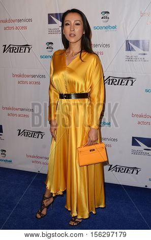 LOS ANGELES - NOV 10:  Jane Wu at the 2016 TMA Heller Awards at Beverly Hilton Hotel on November 10, 2016 in Beverly Hills, CA