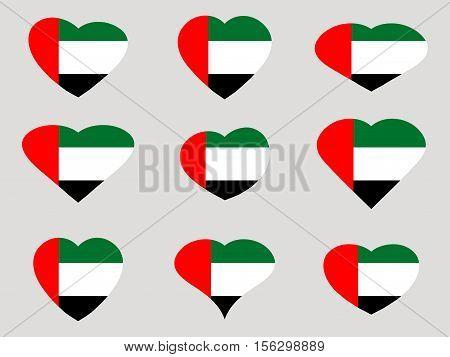 Heart With The Flag Of United Arab Emirates. I Love The United Arab Emirates. United Arab Emirates F