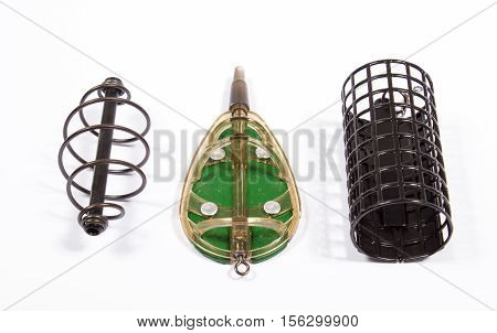 Feeders For Fishing On A White Background. Method Feeder.