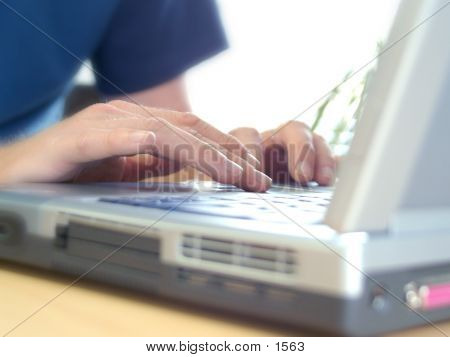 Laptop Typing