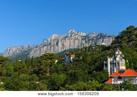 The view of Mount Ai-Petri . Crimea