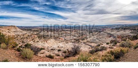 Grand Staircase Escalante National Monument with the river Utah USA