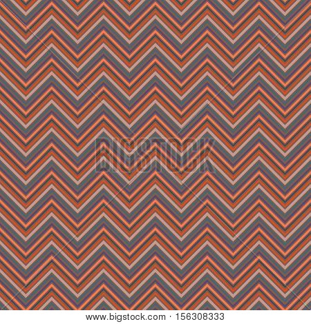Colored seamless pattern zig zag. Abstract repeating background vector illustration.