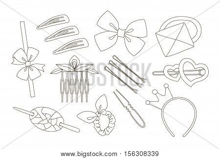 Hair Accessories Object Set, Headband, Comb Hairpin Elastic