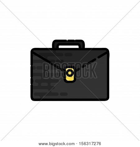 Law flat icon. System of rules. Vector illustration EPS 10