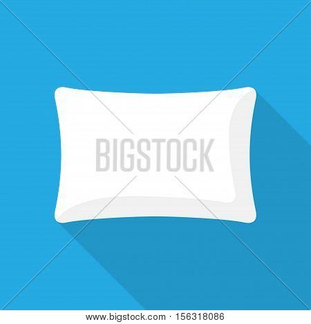 white pillows. Cushion bedroom pillow. vector illustration