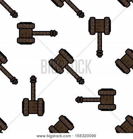 Law flat pattern. Judicial background. Vector illustration EPS 10