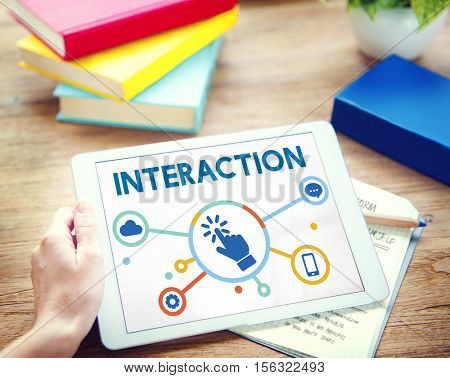 Interaction Connection Community Social Network Concept