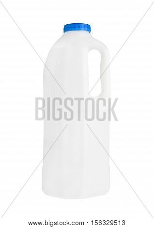 Plastic milk gallon container isolated on white background