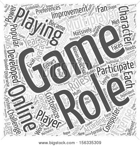 Role Playing Games And The Fan Base Grows word cloud concept